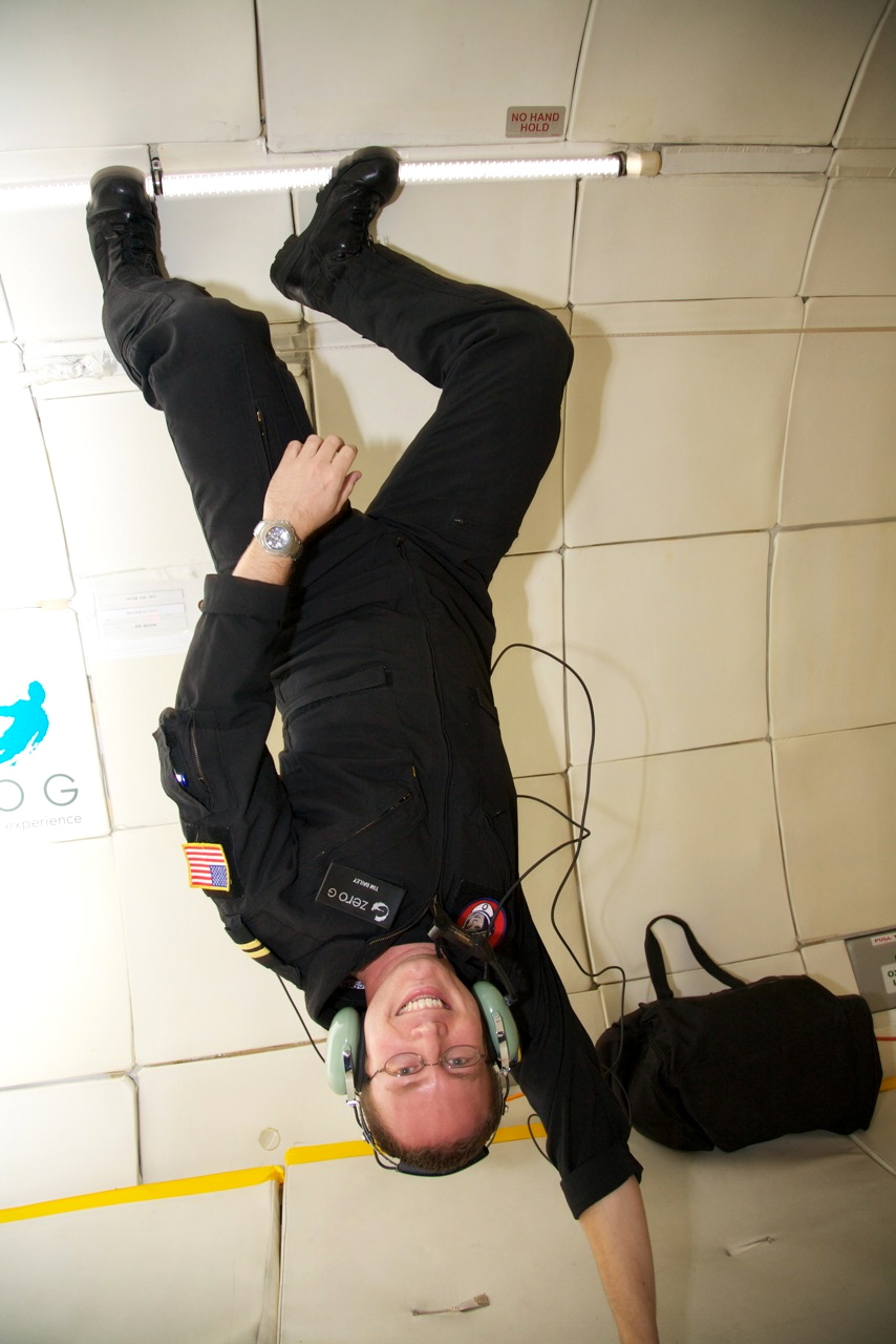 Upside down on ZG-256 | credit: Steve Boxall/ZERO G