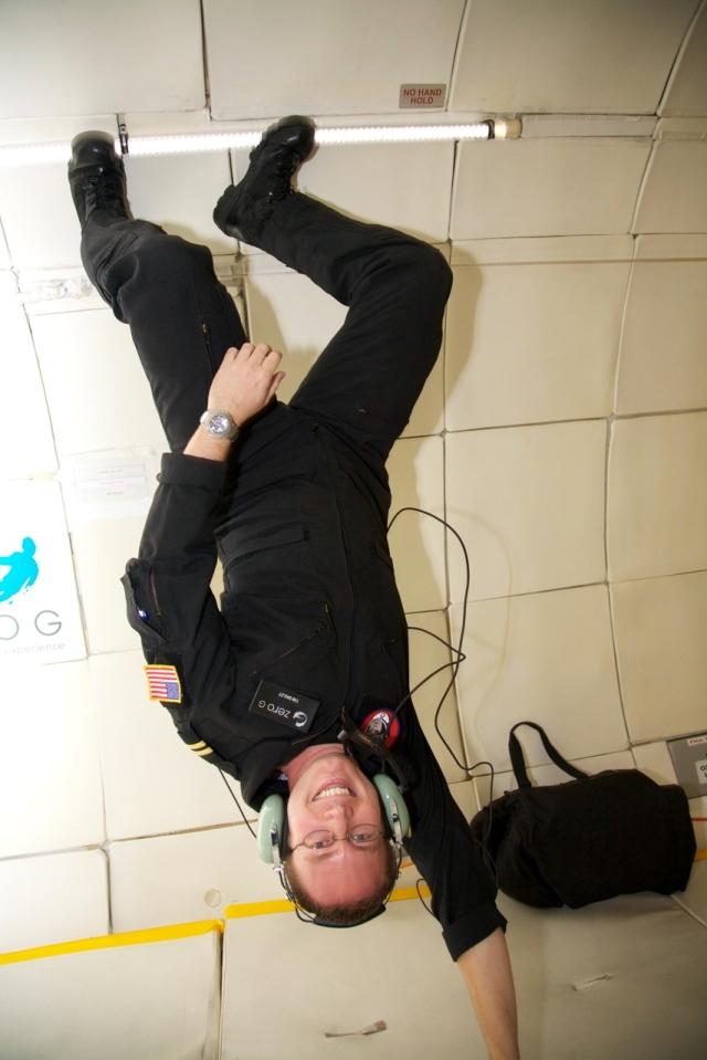 Upside down on ZG-256 | credit: Steve Boxall/ZERO G